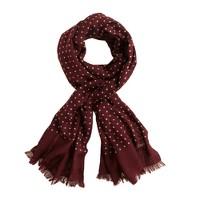 Drake's® classic dot scarf
