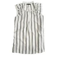 Silk flutter top in stripe