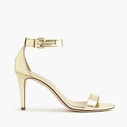 Mirror metallic high-heel sandals