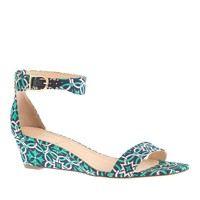 Lillian printed low wedges
