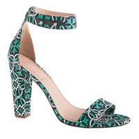 Lanie printed stacked-heel sandals