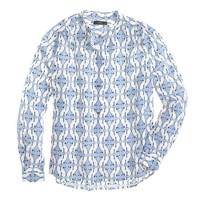 Silk cat-print blouse