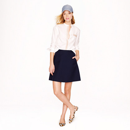 Gabardine A-line skirt