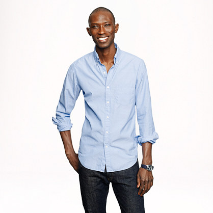 Tall Secret Wash shirt in woven arrows