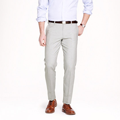 Ludlow slim suit pant in Italian oxford cloth