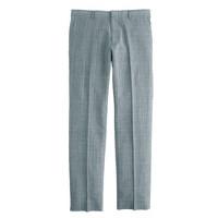 Ludlow slim suit pant in glen plaid Italian wool-linen