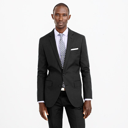 Ludlow suit jacket in Italian cotton piqué