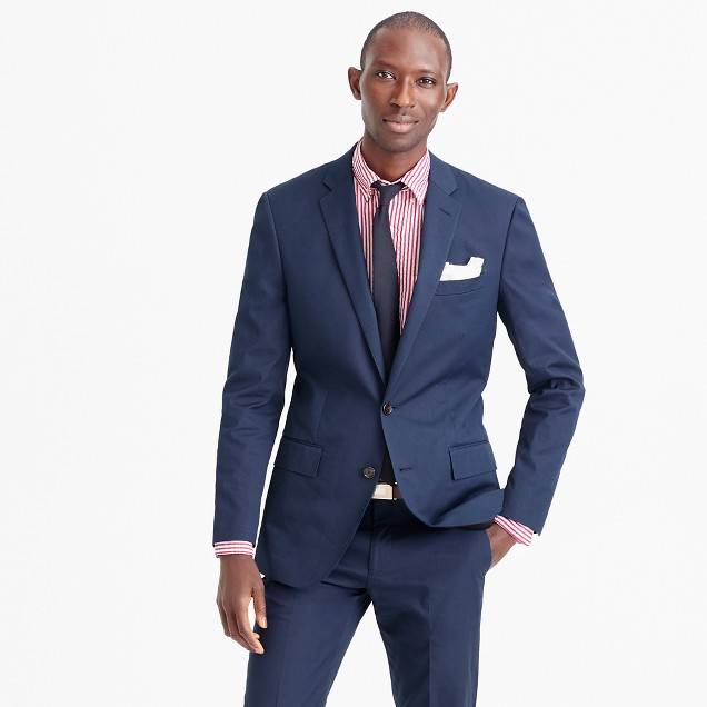 Ludlow suit jacket in Italian cotton piqué
