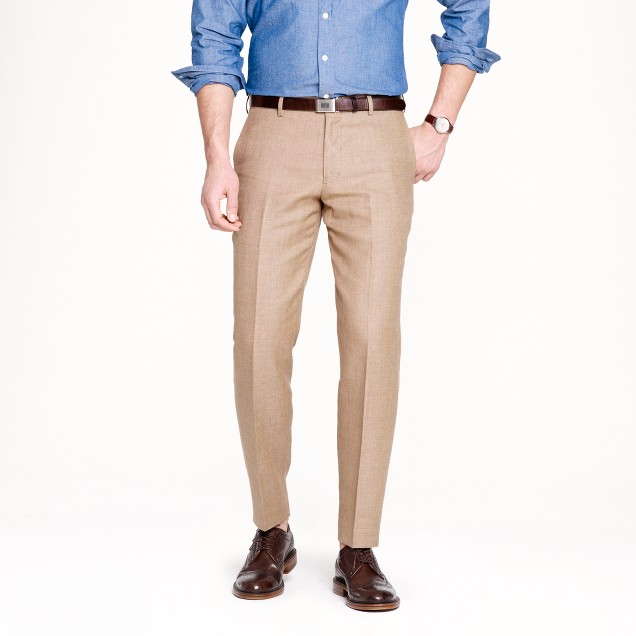 Ludlow classic suit pant in Italian linen-cotton