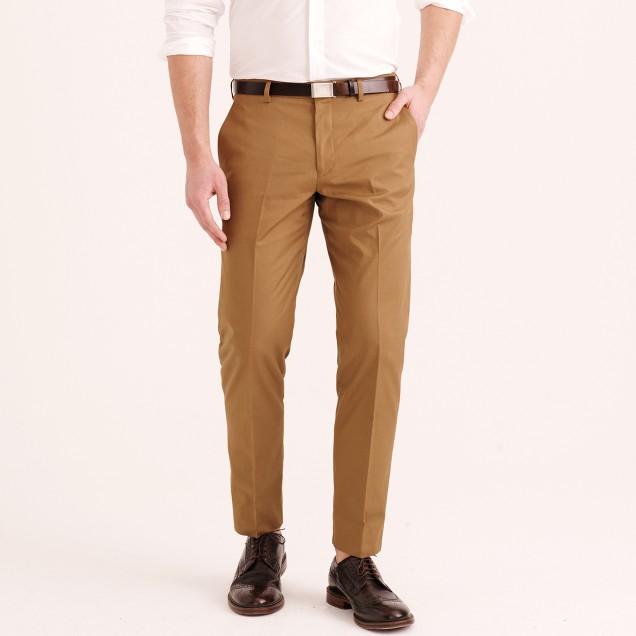 Ludlow classic suit pant in Italian cotton piqué