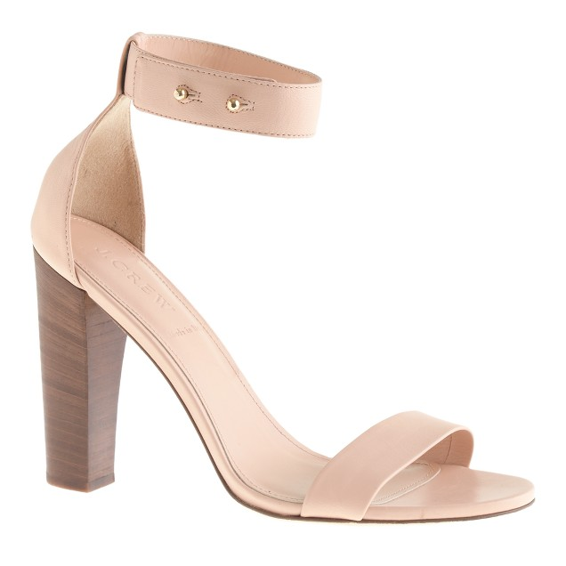 Lanie stacked-heel sandals