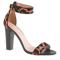 Collection Lanie calf hair stacked-heel sandals
