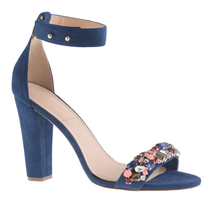 Collection Lanie jeweled stacked-heel sandals