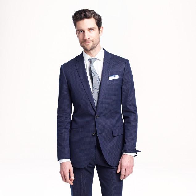 Ludlow suit jacket in dotted indigo Italian cotton