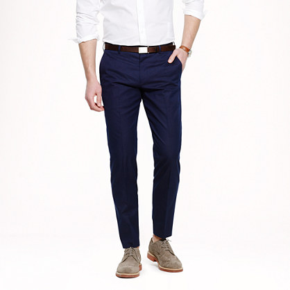Ludlow slim suit pant in dotted indigo Italian cotton
