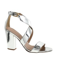 Callie high-heel metallic sandals