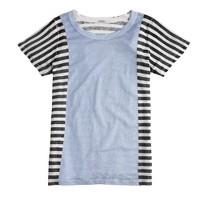 Linen paneled T-shirt