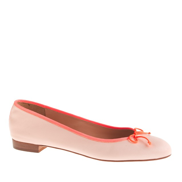 Kiki leather and grosgrain ballet flats