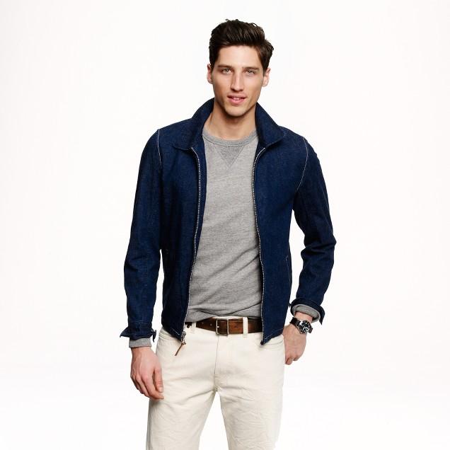 Wallace & Barnes indigo deck jacket in Japanese selvedge denim