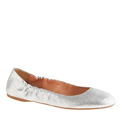 Emma crackled metallic leather ballet flats