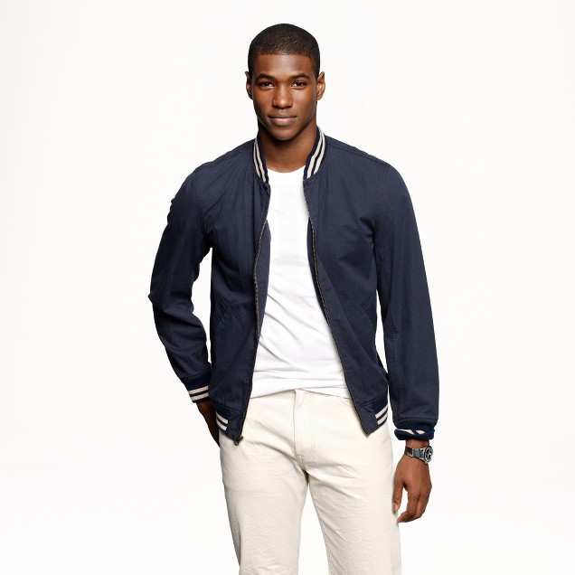 Wallace & Barnes Baseball bomber jacket in Japanese cotton