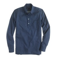 Cotton popover in wheel print