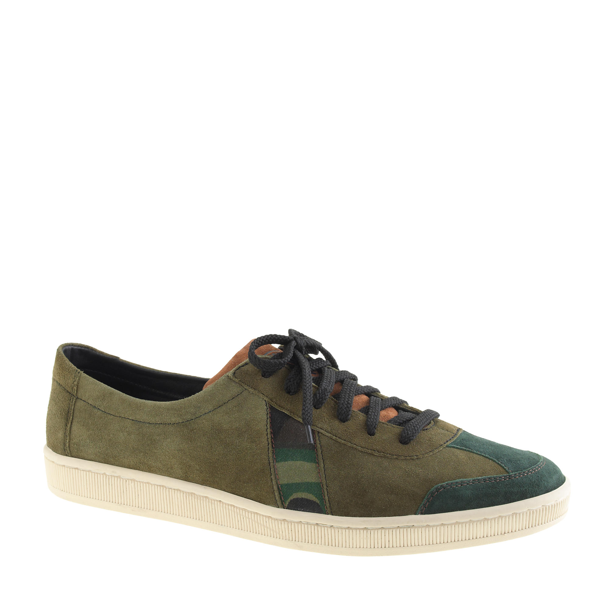 s sawa for j crew dr bess sneakers in camo suede