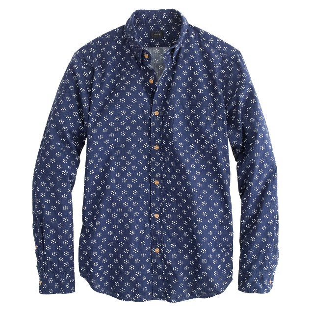 Cotton shirt in floral dot