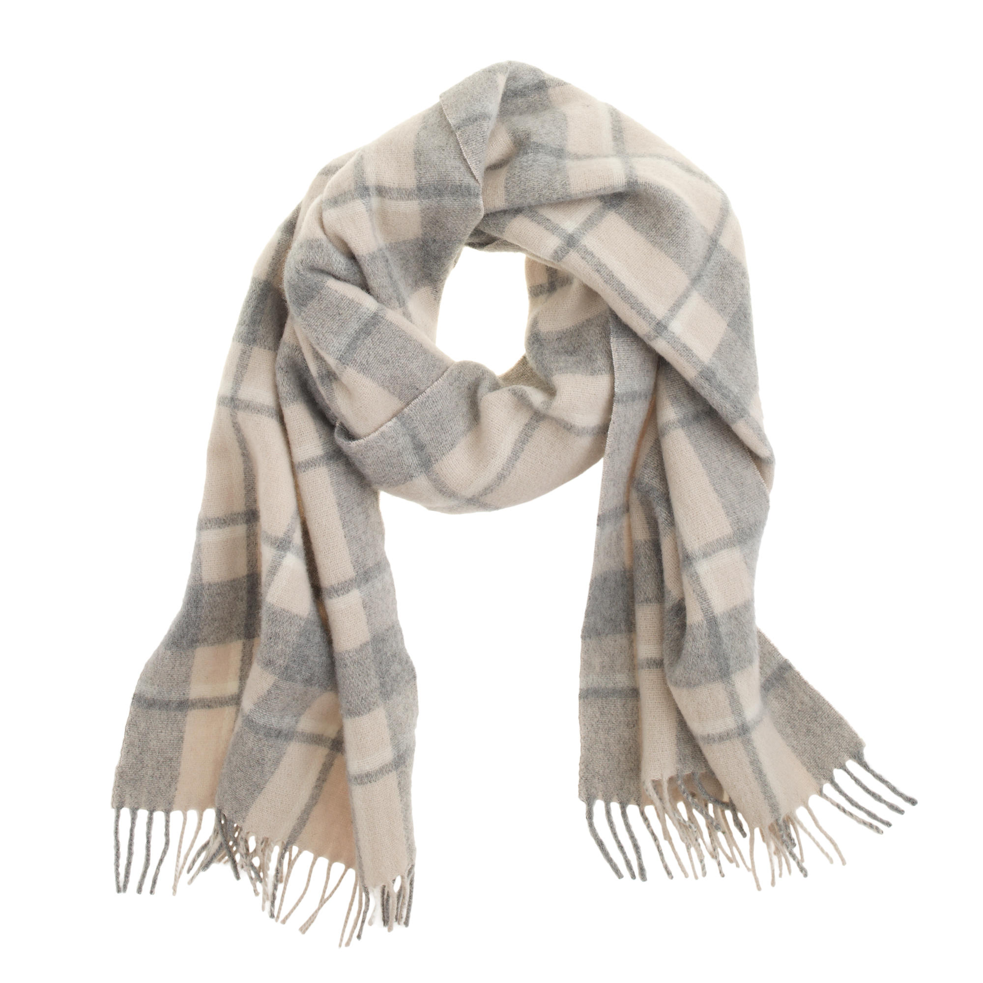 plaid scarf j crew
