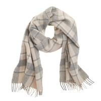 Cashmere heather plaid scarf