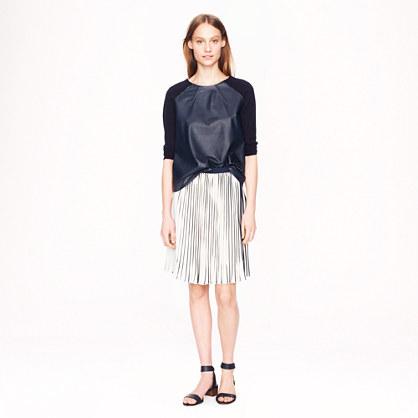 Sunburst skirt in stripe