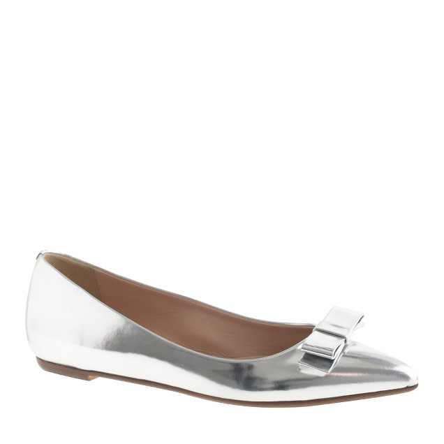 Viv mirror metallic bow flats