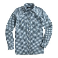 Chambray workshirt in flower bud
