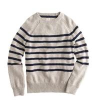 Boys' slub raglan sweater in stripe
