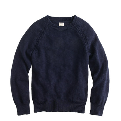 Boys' raglan-sleeve sweater