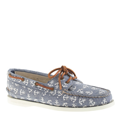 Sperry Top-Sider® for J.Crew Authentic Original 2-eye boat shoes in anchor chambray