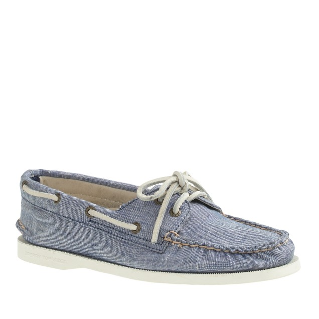 Sperry Top-Sider® for J.Crew Authentic Original 2-eye boat shoes in chambray