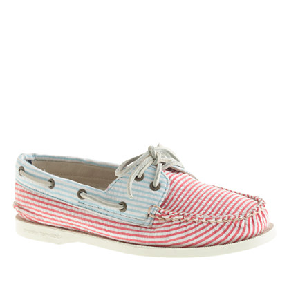 Sperry Top-Sider® for J.Crew Authentic Original 2-eye boat shoes in seersucker