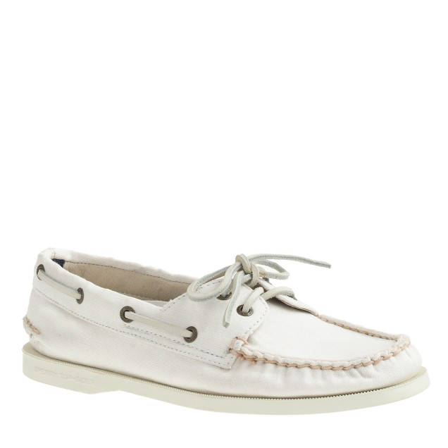 Sperry Top-Sider® for J.Crew Authentic Original 2-eye boat shoes in washed canvas