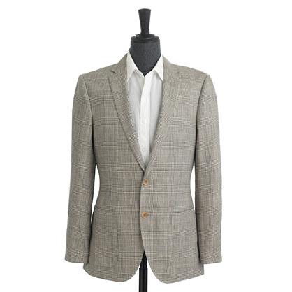 Ludlow sportcoat in glen plaid Italian silk-linen