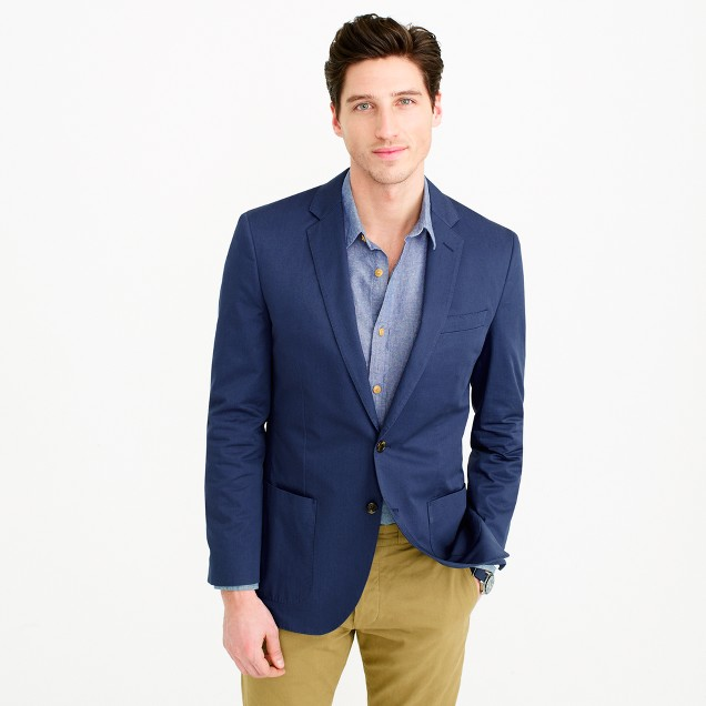 Ludlow blazer in Italian cotton