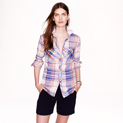 Workshirt in pink plaid