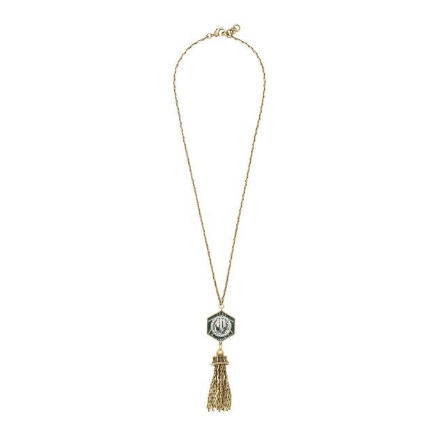 Lulu Frost for J.Crew midnight moon tassel necklace