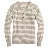 Wallace & Barnes ribbed stripe henley