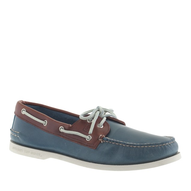 Men's Sperry Top-Sider® for J.Crew Authentic Original 2-eye boat shoes in contrast