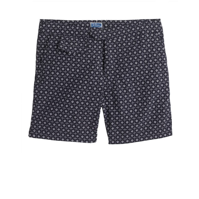 "6.5"" tab swim short in foulard print"