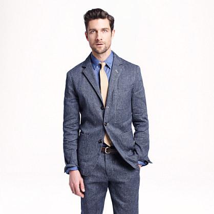 Wallace & Barnes worker suit jacket in Japanese denim