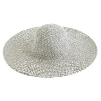 Patterned summer straw hat