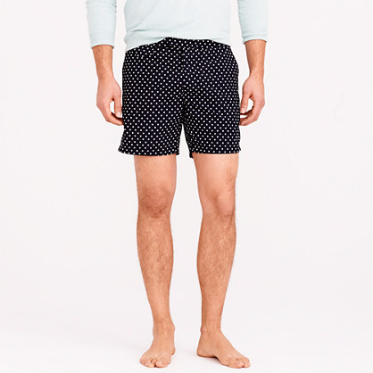 "6.5"" tab swim short in large dot"