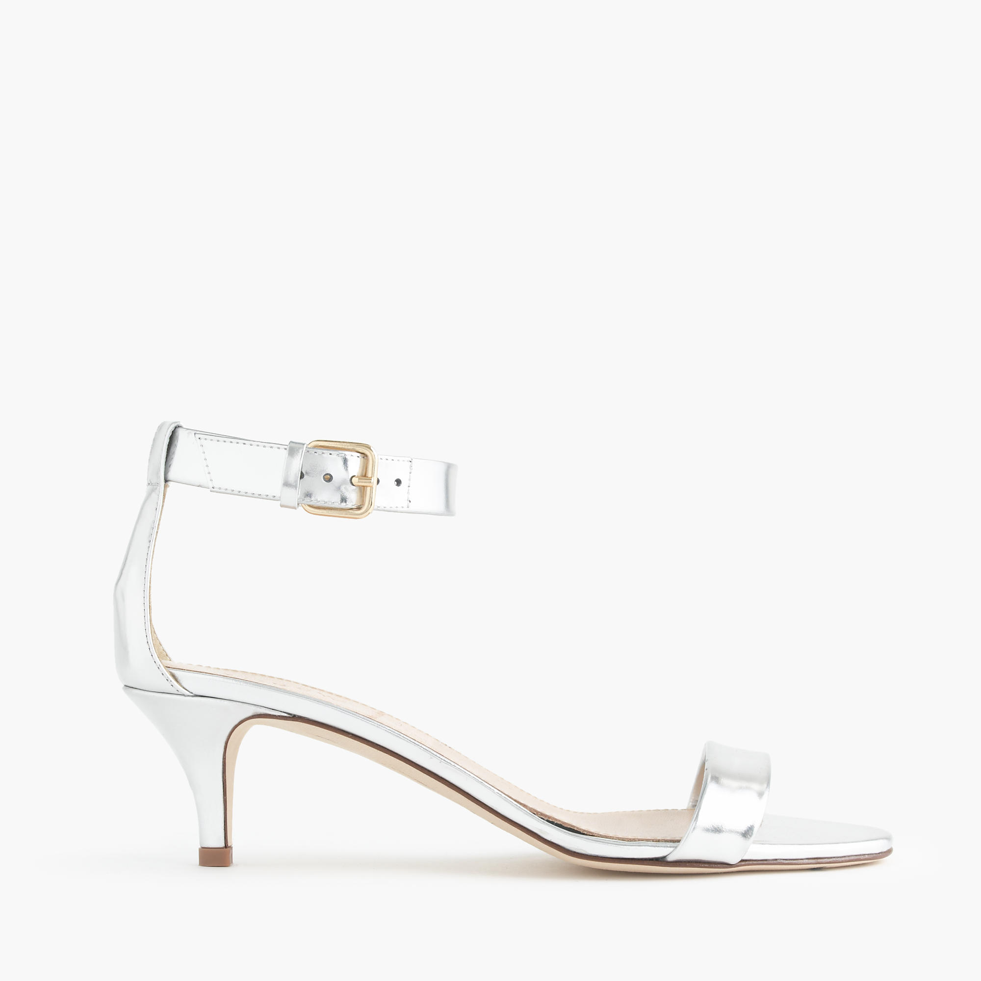 Mirror Metallic Kitten-Heel Sandals : Women's Sandals | J.Crew